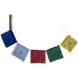 Tibetské modlitební vlaječky Lungta 17x17cm 1,5m