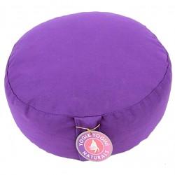 Meditační sedák polštář pohankový 35 x 17 cm fialový