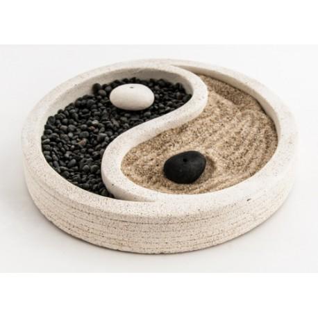 Zenová zahrádka jin-jang bílá 15 cm