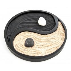 Zenová zahrádka jin-jang černá 20 cm
