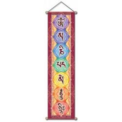 čakrový závěs - plakát - banner 15x60 cm