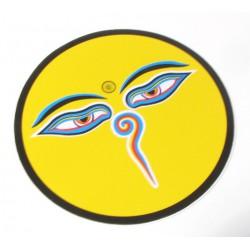 Buddhovy oči - žlutá samolepka