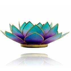 Lotos svícen Capiz fialovo-modrý se zlatavými lemy