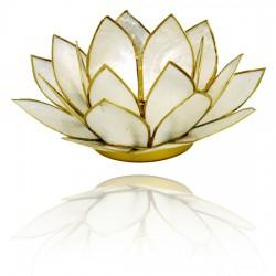 Lotos svícen Capiz perleťový se zlatavými lemy