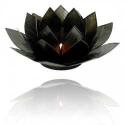 Lotos svícen Capiz černý s černými lemy