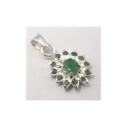 Stříbrný přívěšek Rubín / safír / smaragd