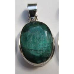Stříbrný přívěšek Smaragd ovál