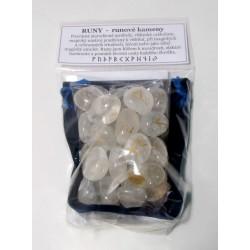 Runové kameny - křišťál