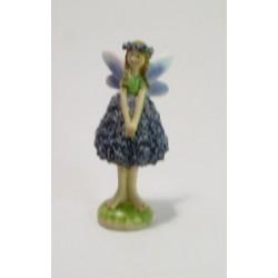 Víla s věnečkem fialová 13 cm