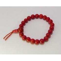 Energetický - Budhův náramek (power bracelet) MOŘSKÝ KORÁL ČERVENÝ