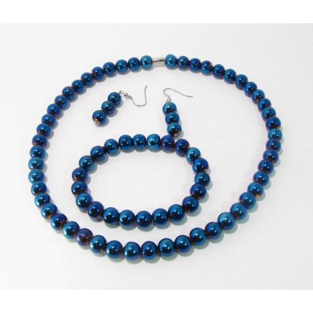 95a523948d Sada náhrdelník - náramek - náušnice Hematit 1 - GALADRIEL e-shop
