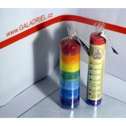 Čakrová svíce vícebarevná 6x20