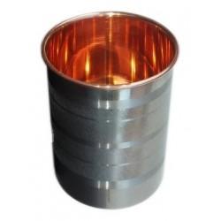 Měděný pohárek na vodu s nerez pláštěm 0,25 litru