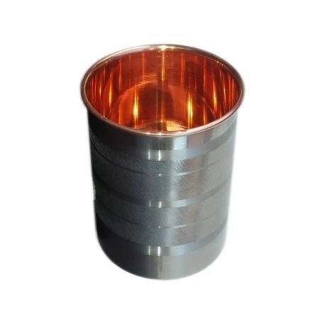 Měděný pohárek na vodu s nerez pláštěm 1,8 litru
