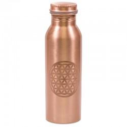 Měděná uzavíratelná lahev na vodu 0,8 litru Květ života 1