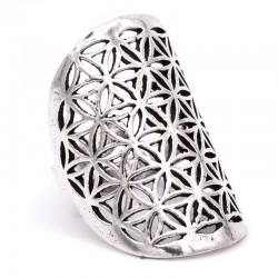 Prsten Květ života stříbřitý