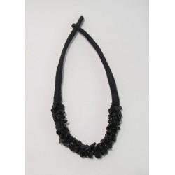 Náhrdelník s kameny černý