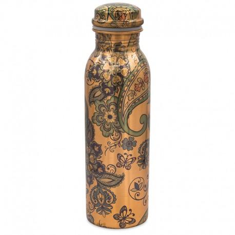 Měděná uzavíratelná lahev na vodu Květ života 3