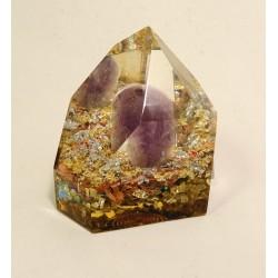 Orgonit - krystal s ametystem 6cm