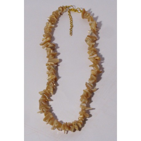 Perleť tmavá - náhrdelník