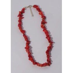 Červený korál - náhrdelník