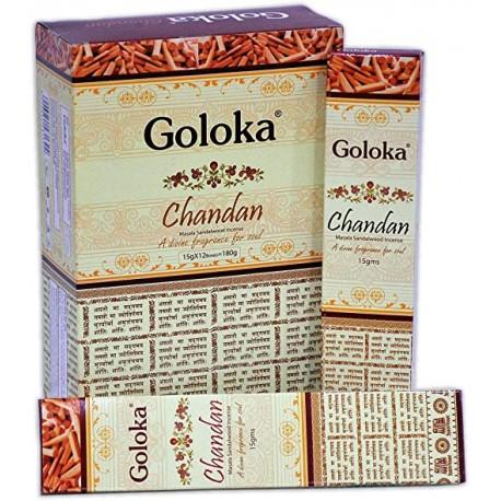 Vonné tyčinky Goloka Chandan - Santalové
