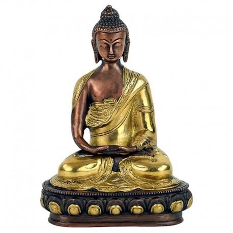 Buddha Amitabha mosazný 20 cm kovová soška
