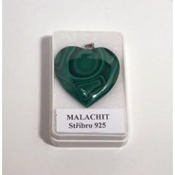 Malachit srdíčko přívěšek 32 mm 4