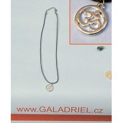 Amulet - náhrdelník ÓM - přívěšek AUM - postříbřený