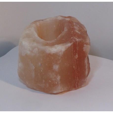 Solná lampa na svíčku - svícen - solný kámen větší 1,2 ~ 1,5 kg