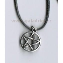 Amulet - náhrdelník pentagram 1 na šňůrce
