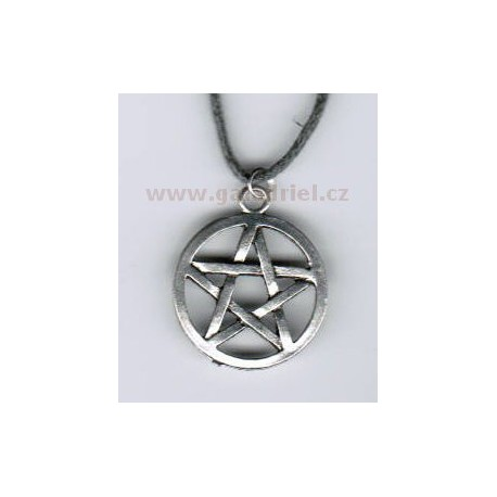 Amulet - náhrdelník pentagram 2 na šňůrce