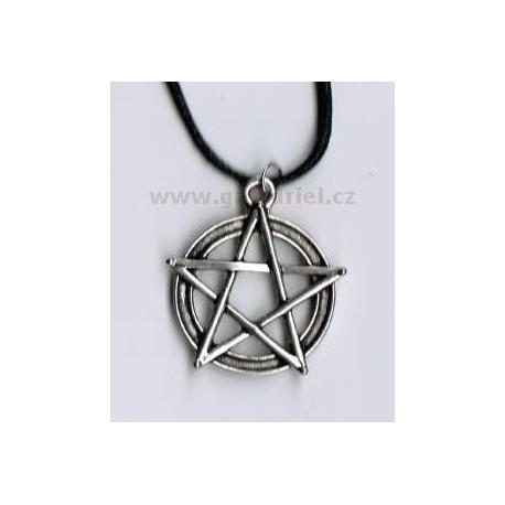 Amulet - náhrdelník pentagram 3 na šňůrce