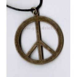 Amulet - náhrdelník PEACE (hippies) 1 na šňůrce