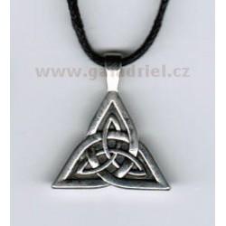 Amulet - náhrdelník keltský uzel dvojitý na šňůrce / přívěšek
