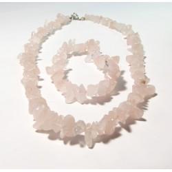 Sada náhrdelník + náramek tromlovaný Růženín AA kvality
