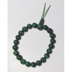 Energetický - Budhův náramek (power bracelet) MALACHITOVÝ