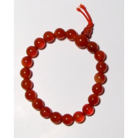 Energetický - Budhův náramek (power bracelet) KARNEOL