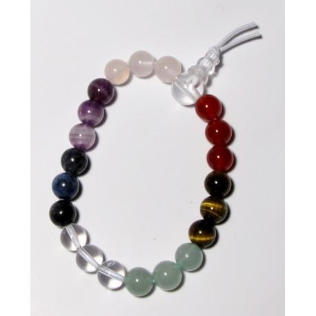 Energetický - Budhův náramek (power bracelet) ČAKROVÝ